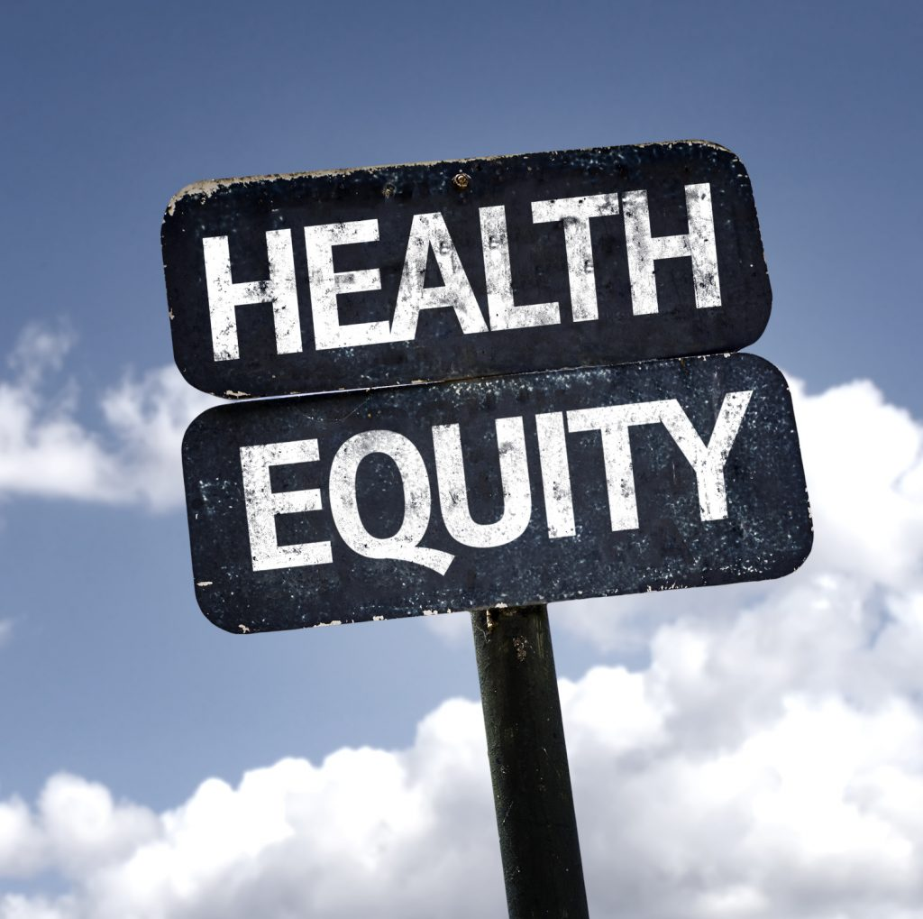 sign reads health equity