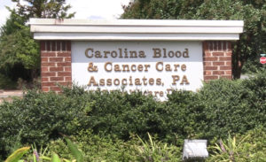 Carolina Blood and Cancer Sign