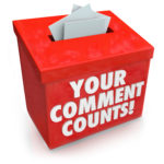 Your Comments Count